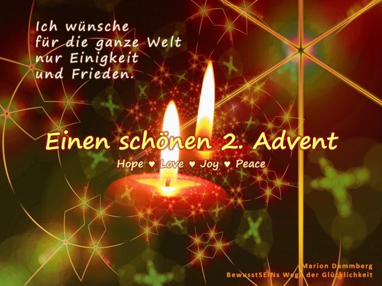 Wünsche für die ganze Welt Einigkeit und Frieden – Advent