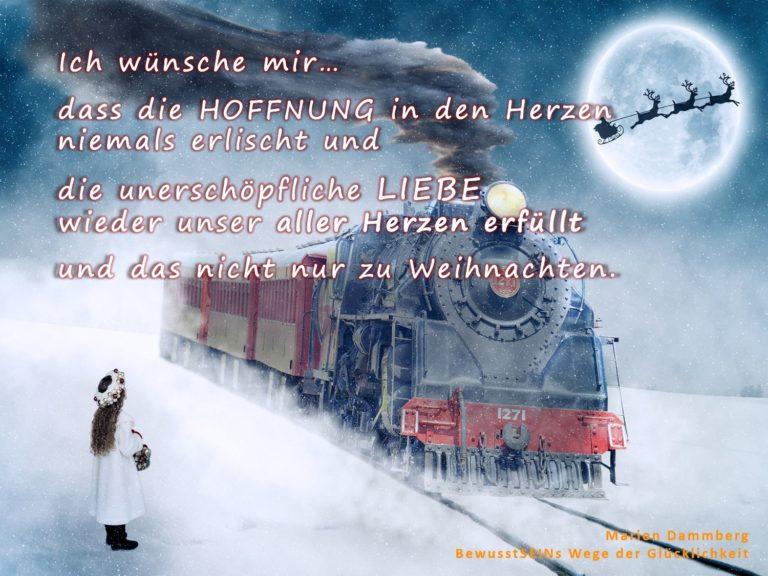 Mein Wunschzettel und nicht nur zu Weihnachten - Marion Dammberg BewusstSEINs Wege der Glücklichkeit