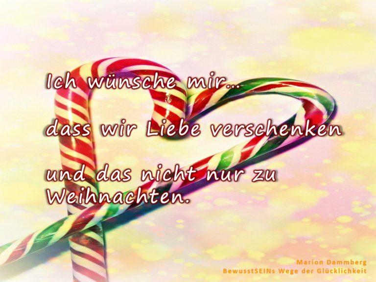 Mein Wunschzettel und nicht nur zu Weihnachten - Marion Dammberg BeusstSEINs Wege der Glücklichkeit