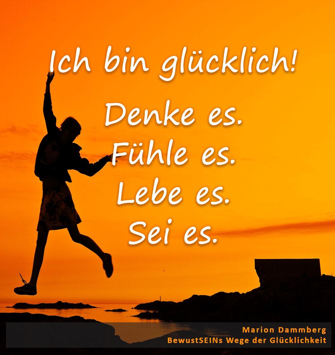 Ich Bin Glücklich Marion Dammberg Bewusstseins Weg Zur Glücklichkeit