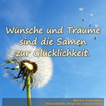 Wünsche und Träume sind die Samen zur Glücklichkeit - BewusstSEINs Wege der Glücklichkeit, Marion Dammberg, BewusstSEINs Life Coach