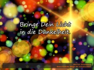 Bringe dein Licht in die Dunkelheit - BewusstSEINs Wege der Glücklichkeit, Marion Dammberg, BewusstSEINs Life Coach