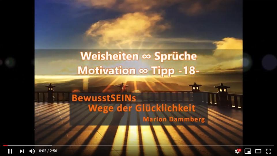Wie werde ich glücklich? - Weisheiten ∞ Sprüche ∞ Motivation ∞ Tipp -14- BewusstSEINs Wege der Glücklichkeit, Marion Dammberg, BewusstSEINs Life Coach