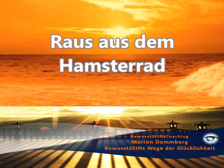 Raus aus dem Hamsterrad - Weisheiten ∞ Sprüche ∞ Motivation ∞ Tipp -19- BewusstSEINs Wege der Glücklichkeit, Marion Dammberg, BewusstSEINs Life Coach